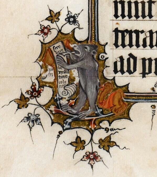 Detail from BL Egerton 3277 f13v (14c)