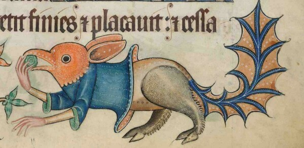 Luttrell Psalter Monster f.192r