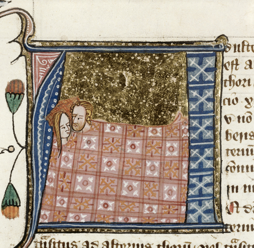 Image of Adultery from BL Royal 6 E VI f. 61