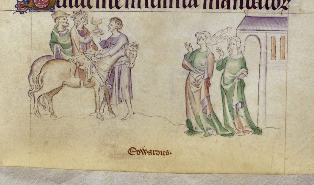 BL Royal 2 B VII, f.245 (Death of Edward the Martyr)