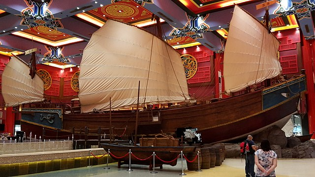 (Photo by Nimravik, Wikimedia Commons) Replica of a Chinese Junk at the Ibn Battuta Mall, Dubai