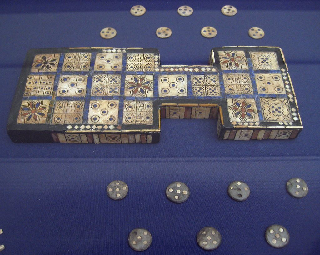Royal Game of Ur board in the British Museum
