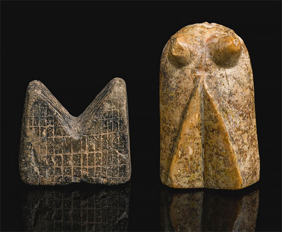 12th-century abstract rook and bishop